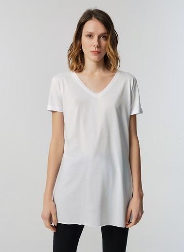 Monamoda Tişört Beyaz